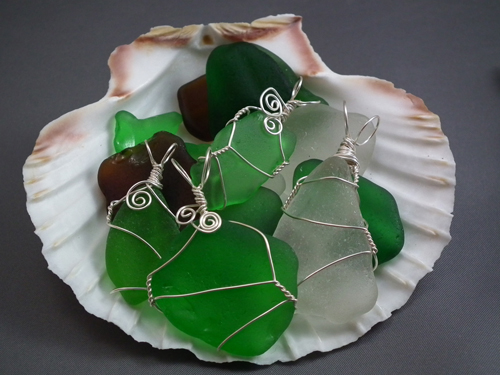 How To Wire Wrap Beach Glass The Easy Way Gayle Bird Designs